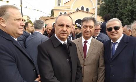 Παρουσία στην κηδεία του Γεώργιου Κατσάνη, ήρωα του 1974 στην Κύπρο.